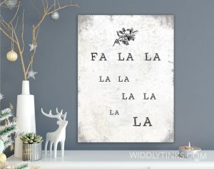modern farmhouse fa la la christmas sign room