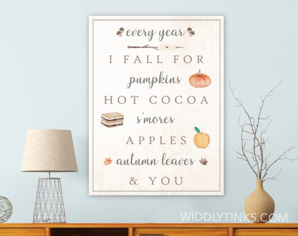 modern farmhouse fall favorites sign room