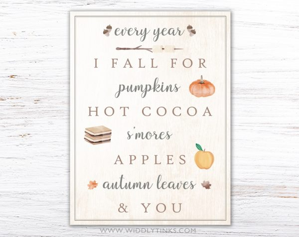 modern farmhouse fall favorites sign simple