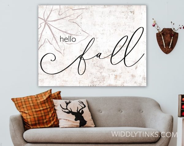 modern farmhouse hello fall sign room