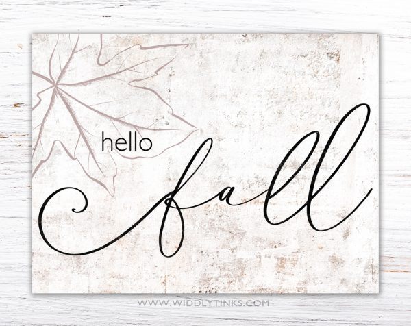 modern farmhouse hello fall sign simple