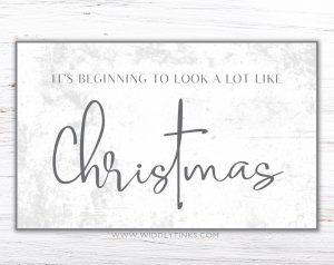 modern farmhouse look like christmas sign simple