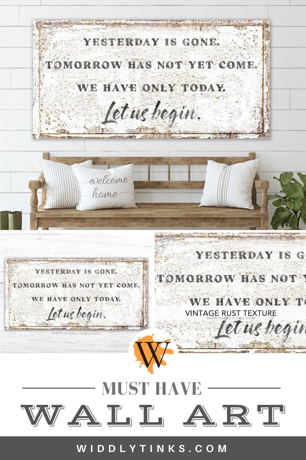 modern farmhouse mother teresa quote sign