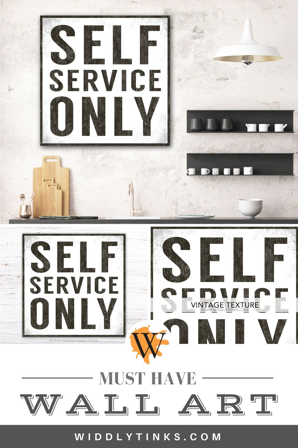 modern farmhouse self service only sign