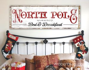 North Pole Bed & Breakfast Sign
