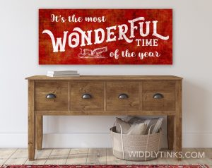 nostalgic christmas wonderful time year sign room