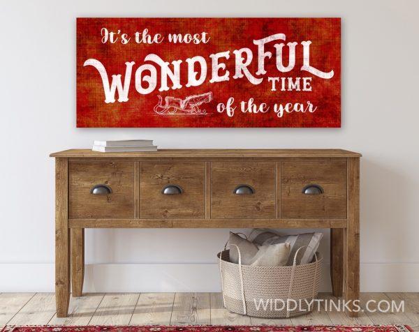 nostalgic christmas wonderful time year sign room