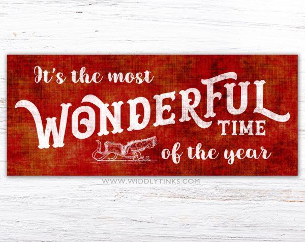 nostalgic christmas wonderful time year sign simple