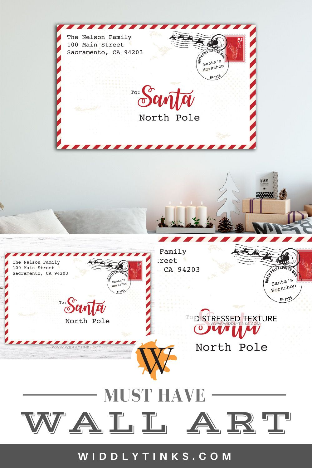 personalized letter to santa christmas sign