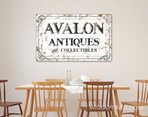 personalized- rustic antiques sign room1