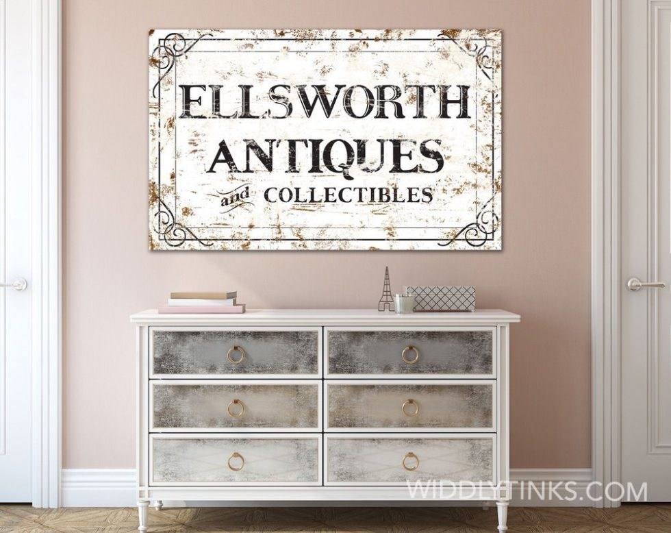 personalized- rustic antiques sign room2