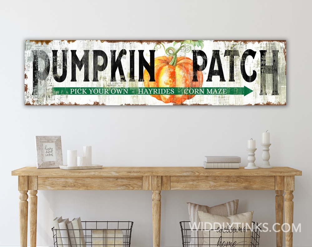 Vintage Pumpkin Patch Fall Sign