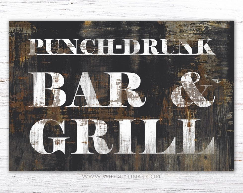 punch drunk bar grill simple