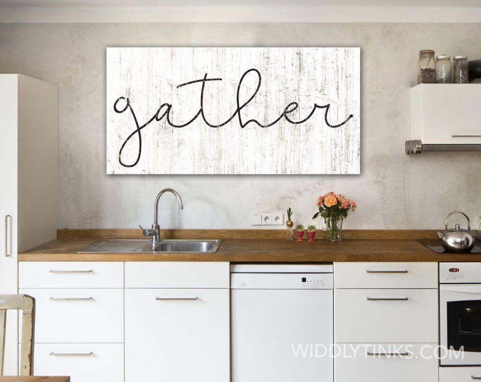 rustic chic farmhouse gather sign room1