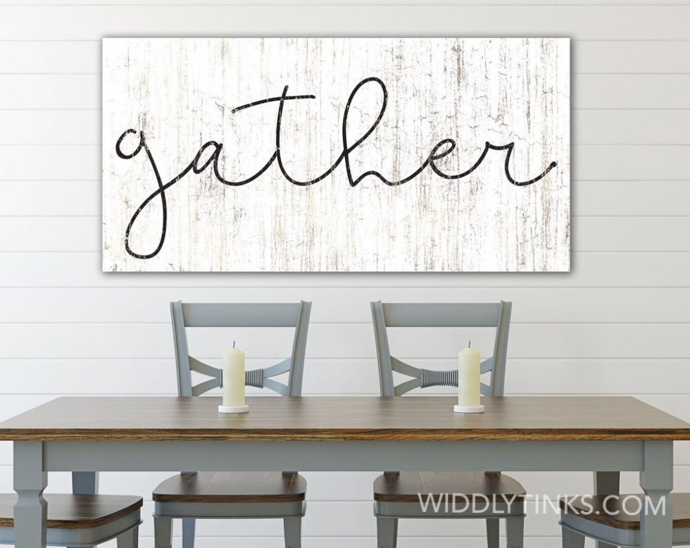 rustic chic farmhouse gather sign room2
