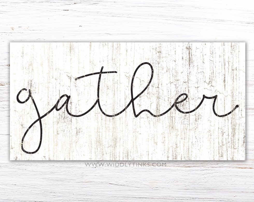 rustic chic farmhouse gather sign simple