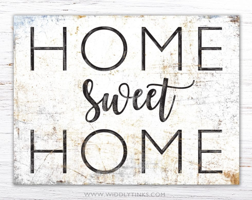 rustic chic farmhouse home sweet home sign simple