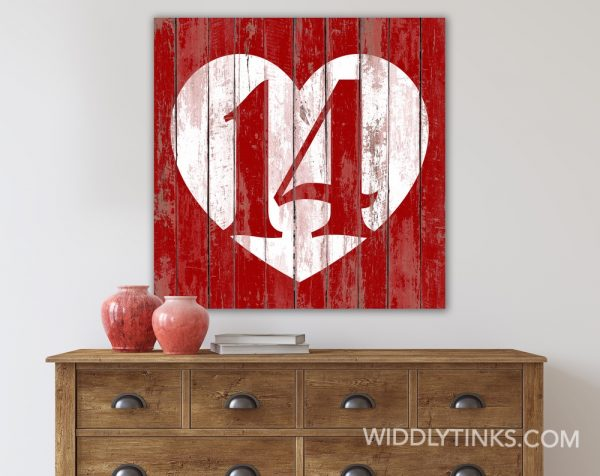 rustic chic February 14 valentine heart room