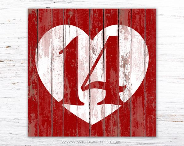 rustic chic February 14 valentine heart