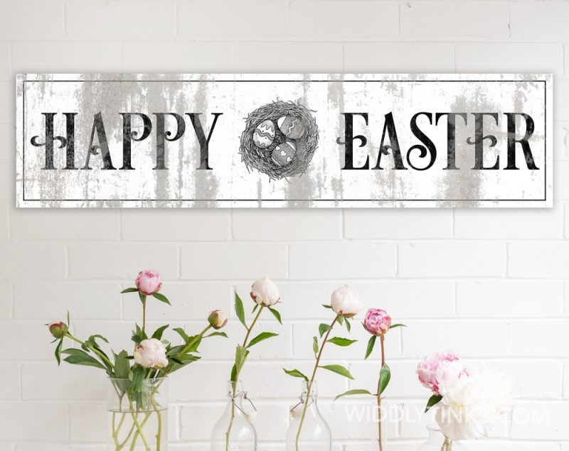 rustic chic happy easter sign room