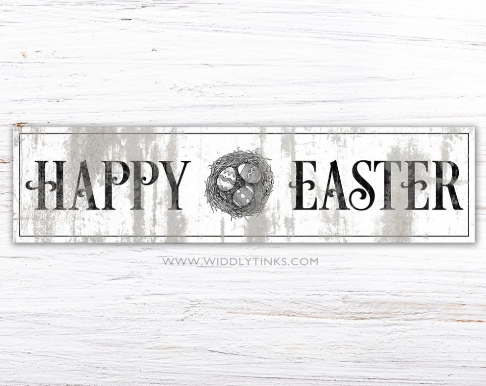 rustic chic happy easter sign simple