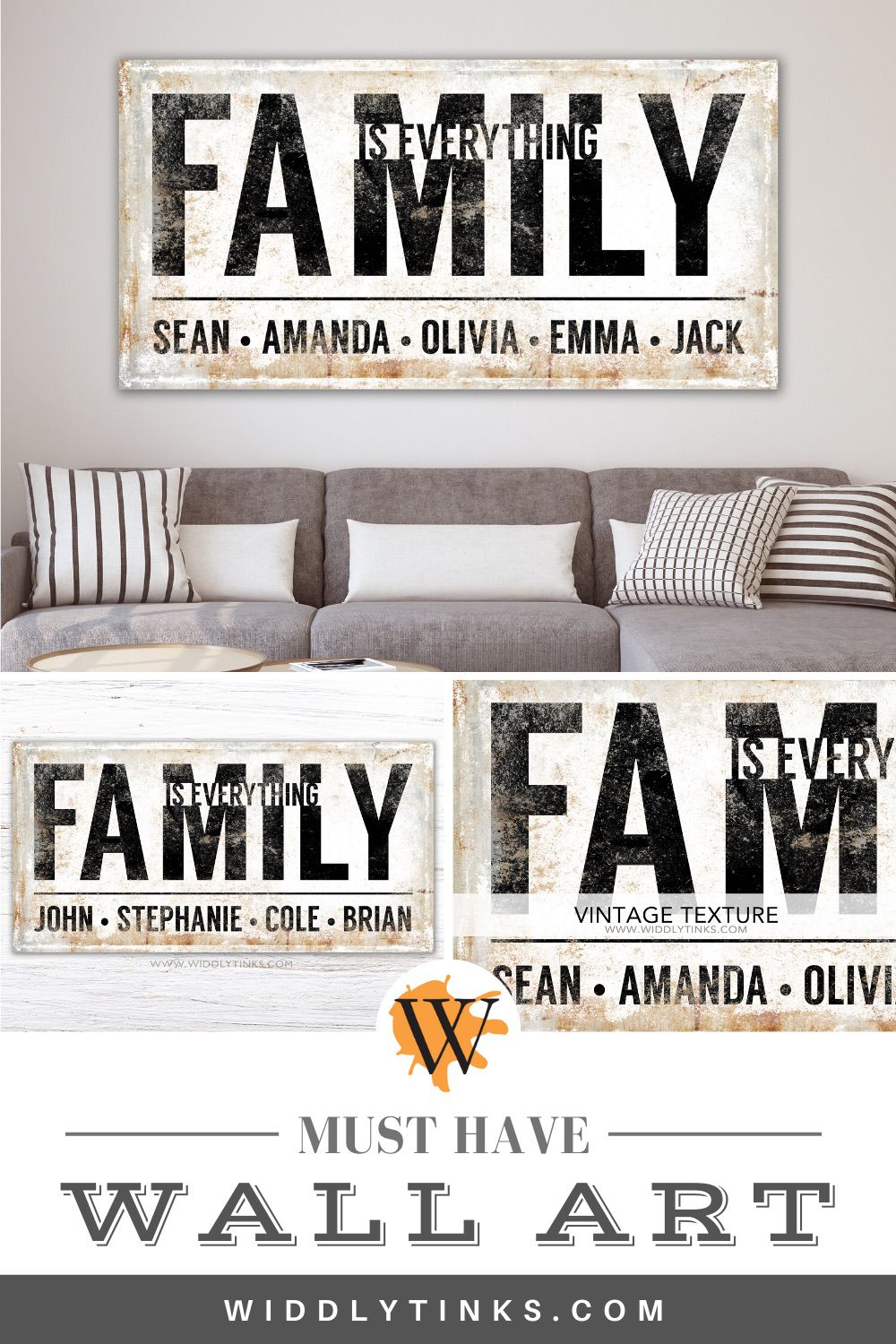 rustic family is everything sign