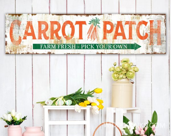 rustic farmhouse carrot patch easter sign room