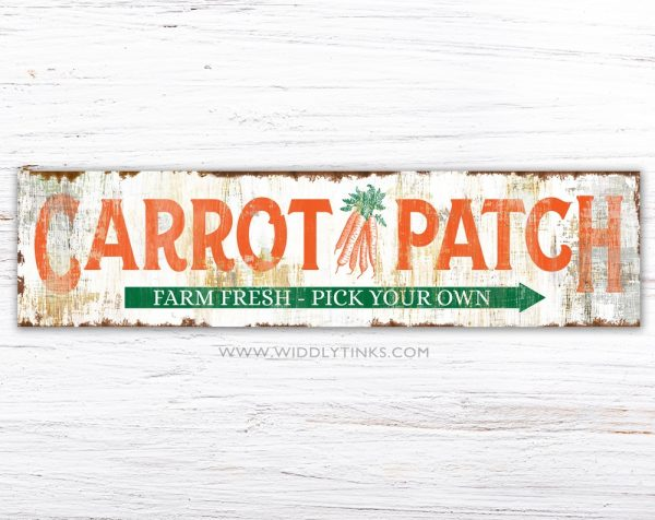 rustic farmhouse carrot patch easter sign simple