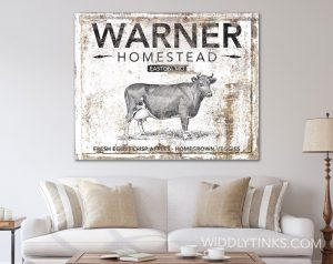 rustic farmhouse family homestead sign room1