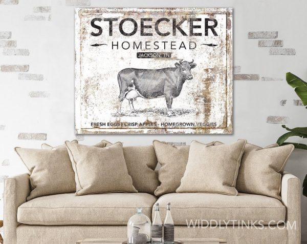 rustic farmhouse family homestead sign room2