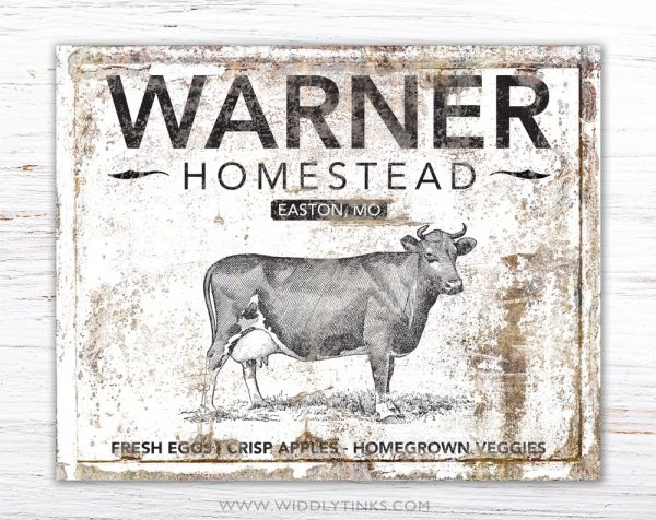 rustic farmhouse family homestead sign simple