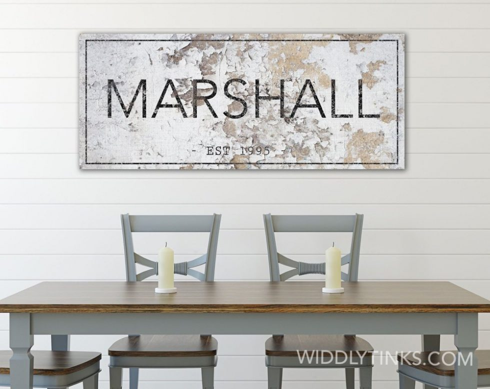 rustic farmhouse family name established sign room7