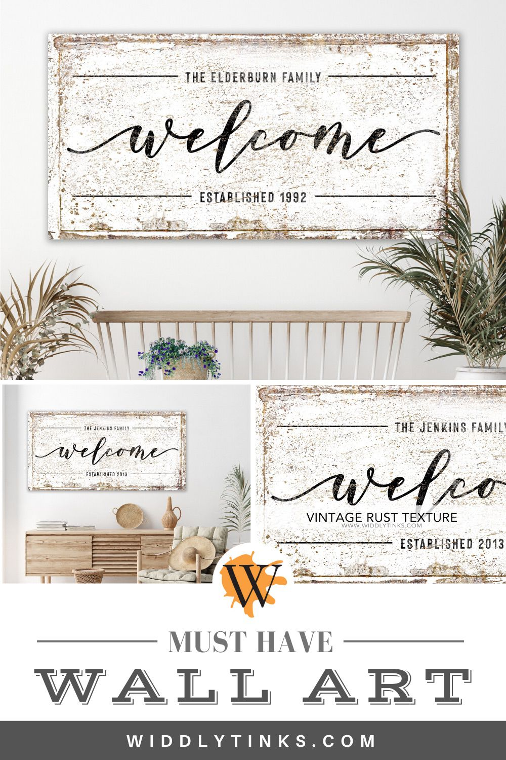 rustic farmhouse family welcome sign