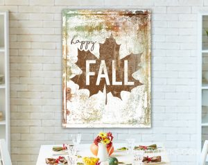 rustic farmhouse happy fall sign room