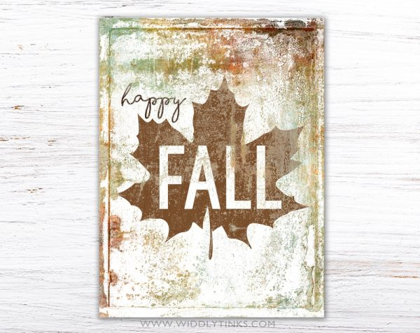 rustic farmhouse happy fall sign simple