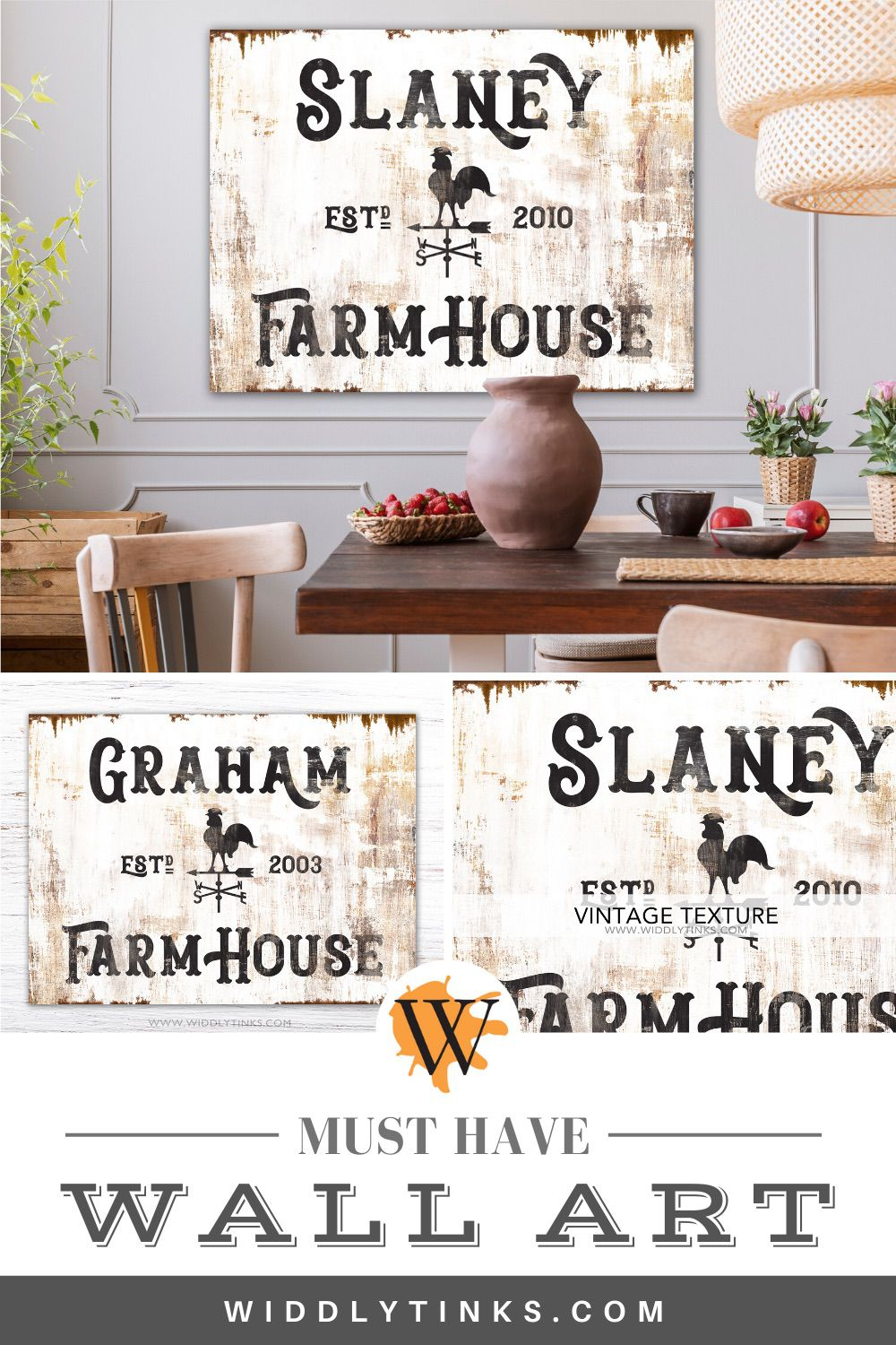 rustic farmhouse personalized family sign