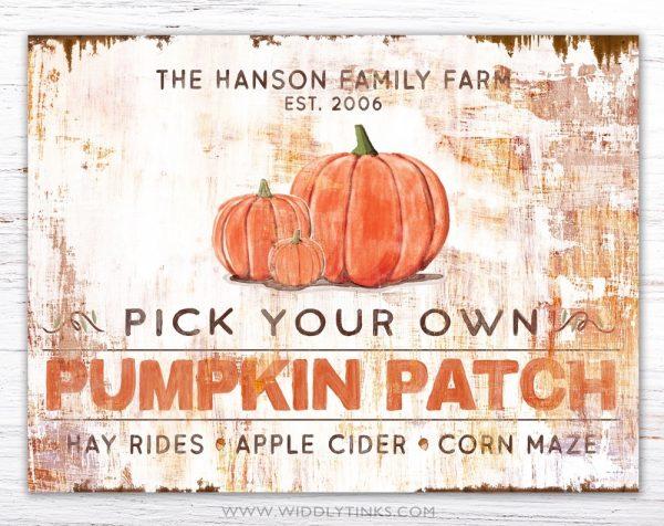 rustic industrial pumpkin patch sign simple