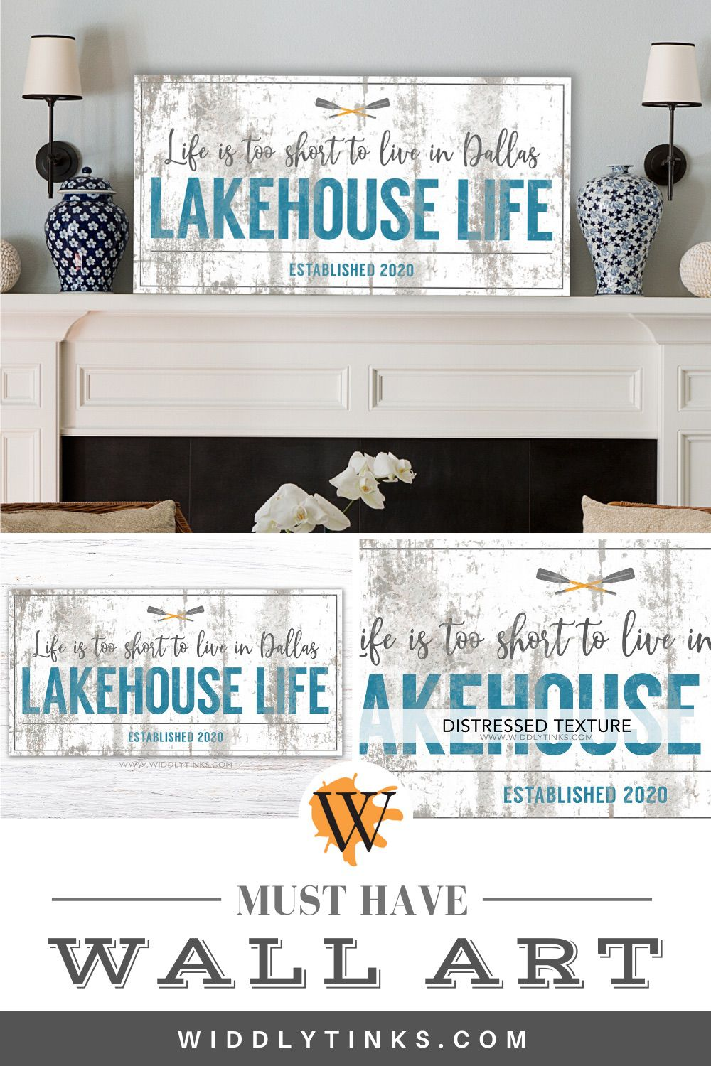rustic lakehouse life sign
