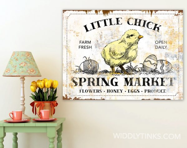 rustic spring market easter sign room