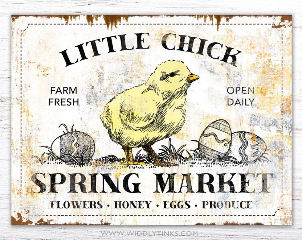 rustic spring market easter sign simple