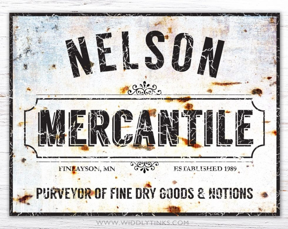 rustic vintage family mercantile sign simple