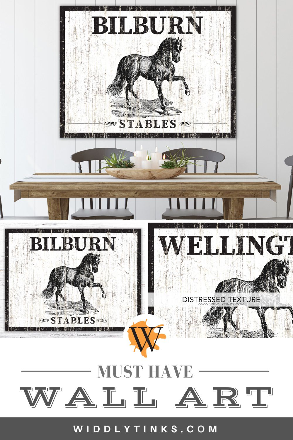 rustic western horse stables family sign
