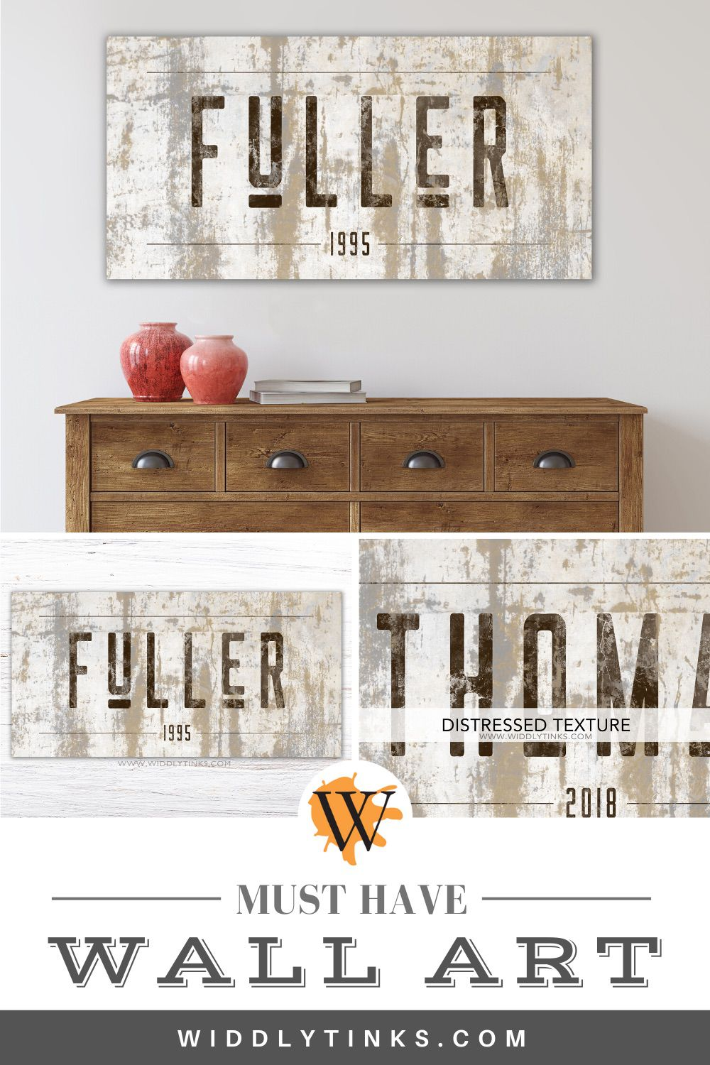 rustic western last name family sign
