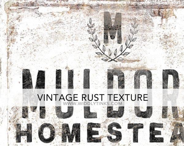 rusty frame homestead closeup white