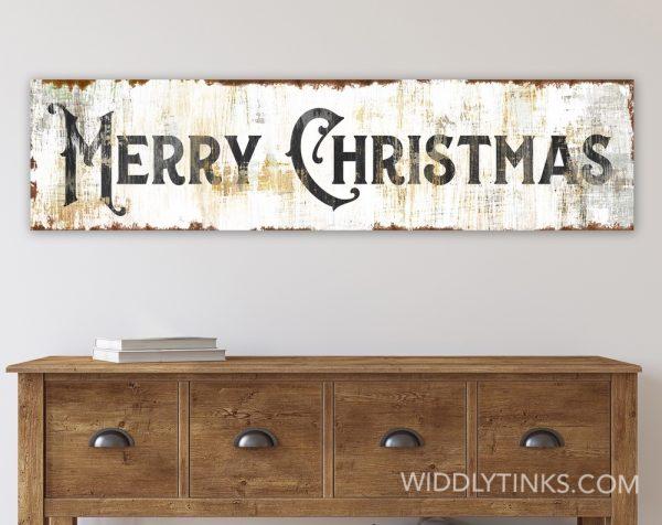 shabby farmhouse merry christmas sign room