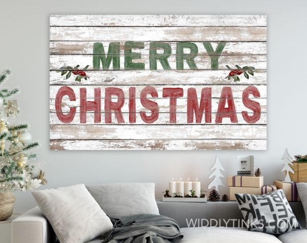 shabby farmhouse merry christmas sign room