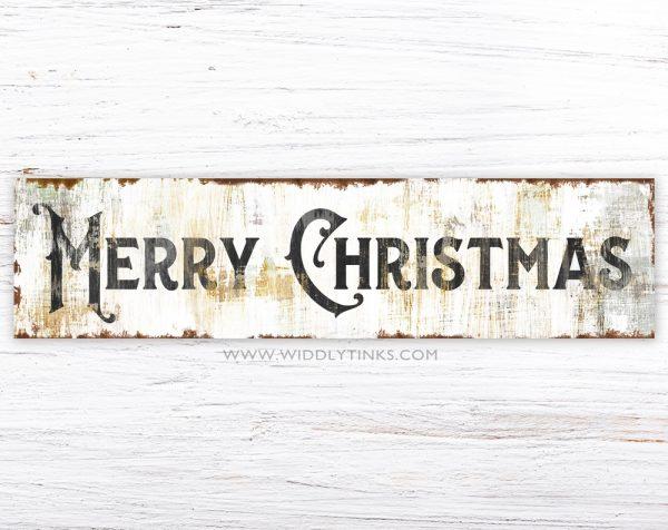 shabby farmhouse merry christmas sign simple