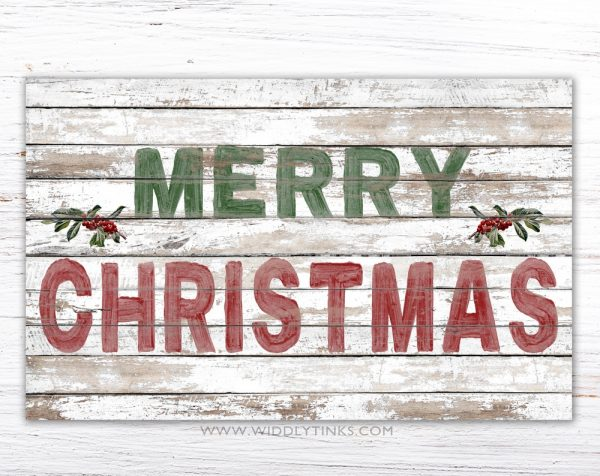 shabby farmhouse merry christmas sign simple
