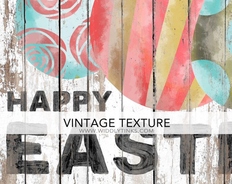 shabby happy easter sign with eggs closeup