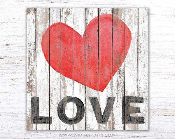 shabby vintage farmhouse love heart